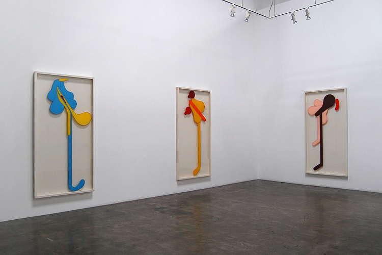 Installation view of Craig Kauffman: Sensual Mechanical 2011 Exhibition at Frank Lloyd Gallery