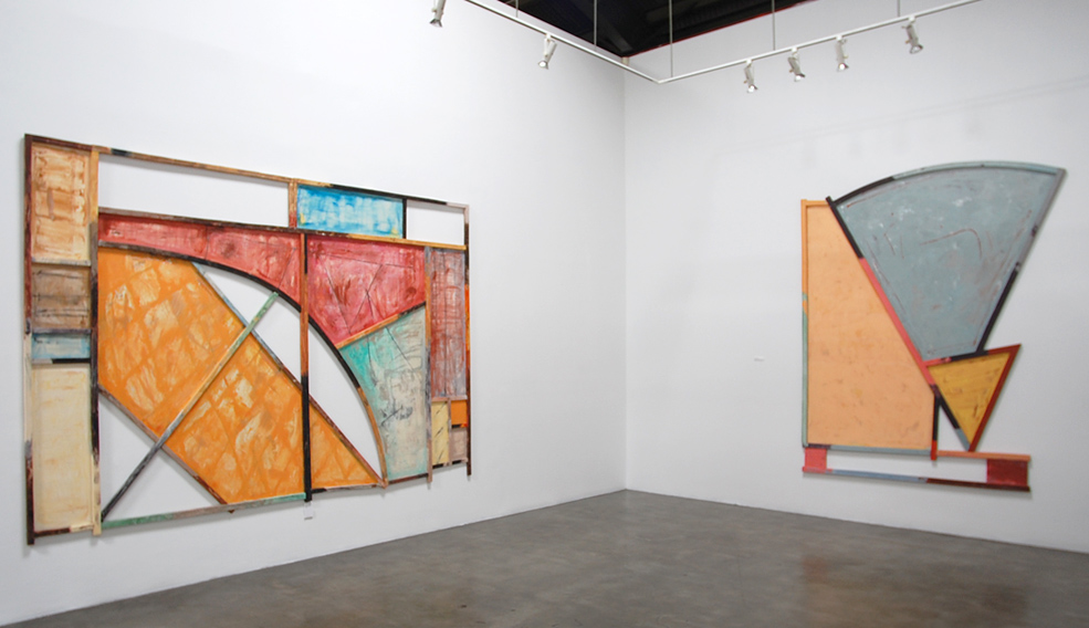 Installation view of Craig Kauffman: Constructed Paintings 2013 Exhibition at Frank Lloyd Gallery
